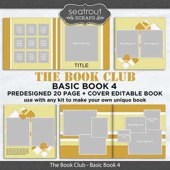 The Book Club - Basic Book 4 - Predesigned Editable Book