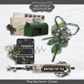 They Also Serve - Clusters Digital Art - Digital Scrapbooking Kits