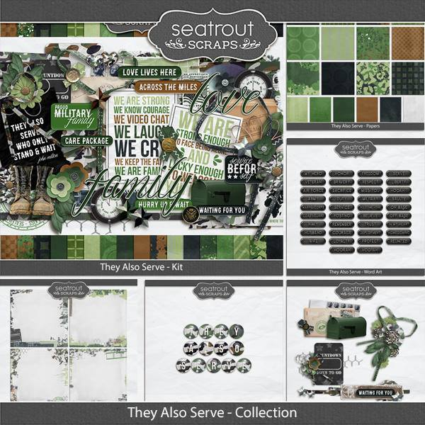 They Also Serve - Discounted Bundle Digital Art - Digital Scrapbooking Kits