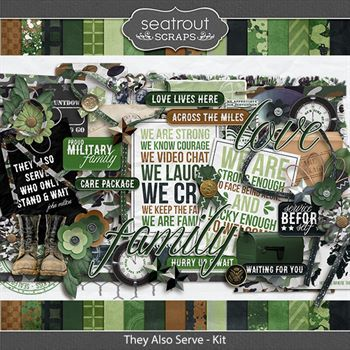 They Also Serve - Kit Digital Art - Digital Scrapbooking Kits
