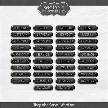 They Also Serve - Word Art
