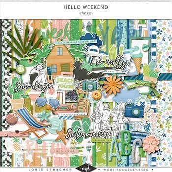 Hello Weekend - Kit Digital Art - Digital Scrapbooking Kits