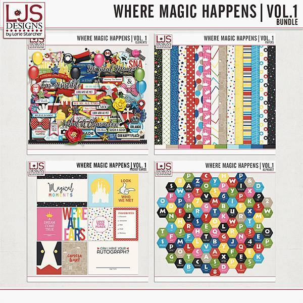 Where Magic Happens Vol. 1 - Bundle Digital Art - Digital Scrapbooking Kits