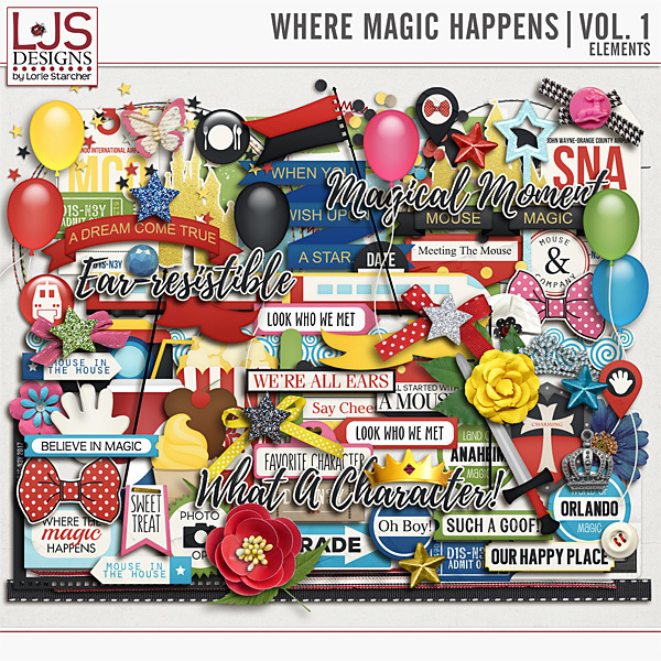 Where Magic Happens Vol. 1 - Elements Digital Art - Digital Scrapbooking Kits