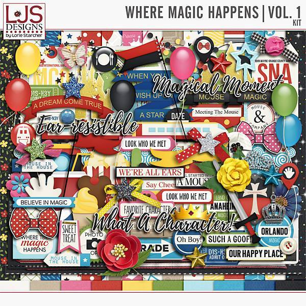Where Magic Happens Vol. 1 - Kit Digital Art - Digital Scrapbooking Kits