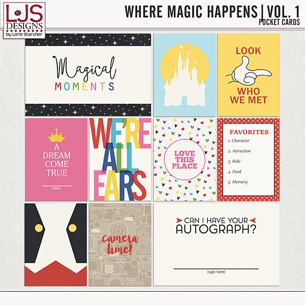 Where Magic Happens Vol. 1 - Pocket Cards Digital Art - Digital Scrapbooking Kits