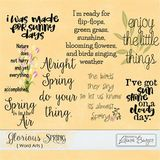 Glorious Spring Word Art