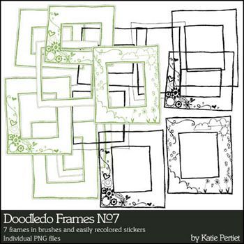 Doodledo Frames No. 07 Brushes And Stamps