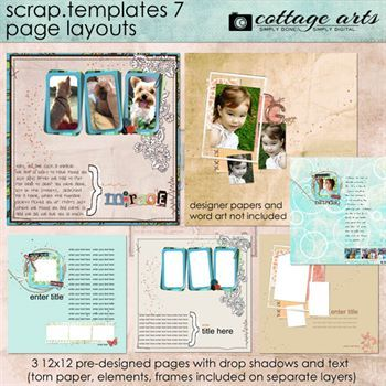 12 X 12 Scrap Templates 7 - Page Layouts