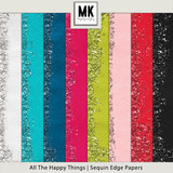 All The Happy Things - Sequin Edge Papers