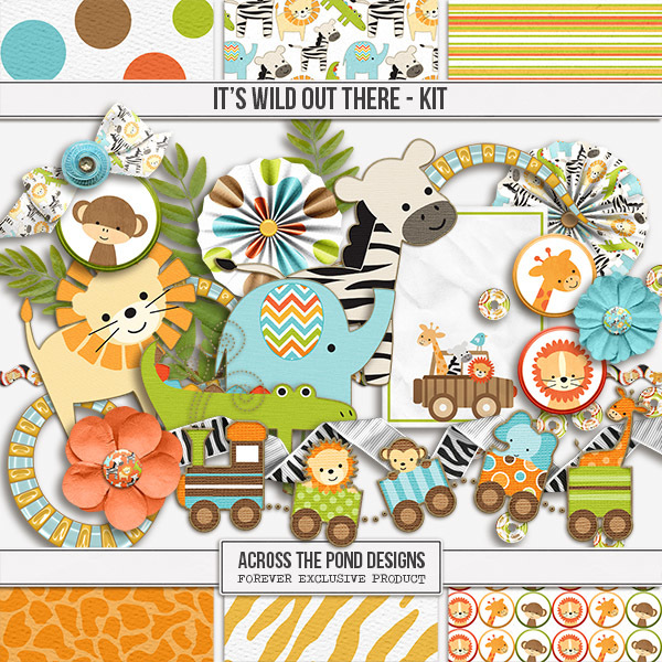 It's Wild Out There - Page Kit Digital Art - Digital Scrapbooking Kits