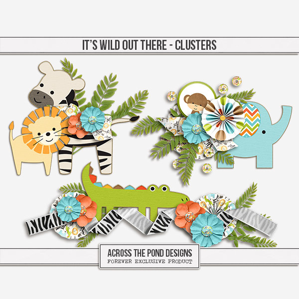It's Wild Out There - Clusters Digital Art - Digital Scrapbooking Kits