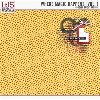 Where Magic Happens - Friday Freebie Digital Art - Digital Scrapbooking Kits