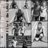 Track And Field 12x12 Page Print Templates