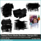 Painted Photo Masks Brushes And Stamps No. 01
