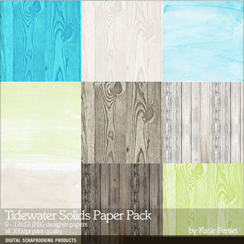 Tidewater Solids Paper Pack