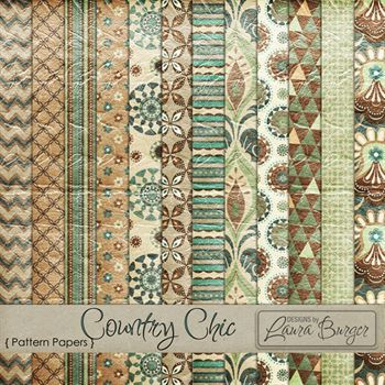Country Chic Pattern Papers