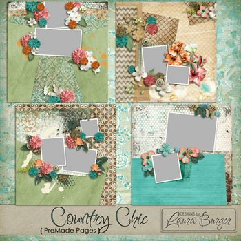 Country Chic Premade Pages