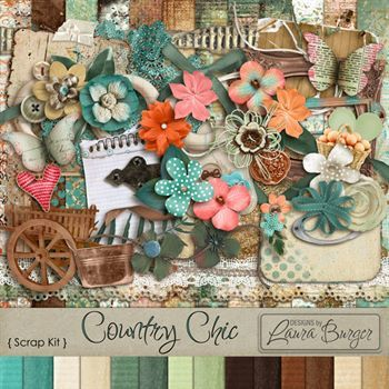 Country Chic Scrap Kit