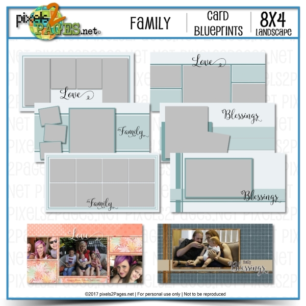 8x4 Card Blueprints - Family