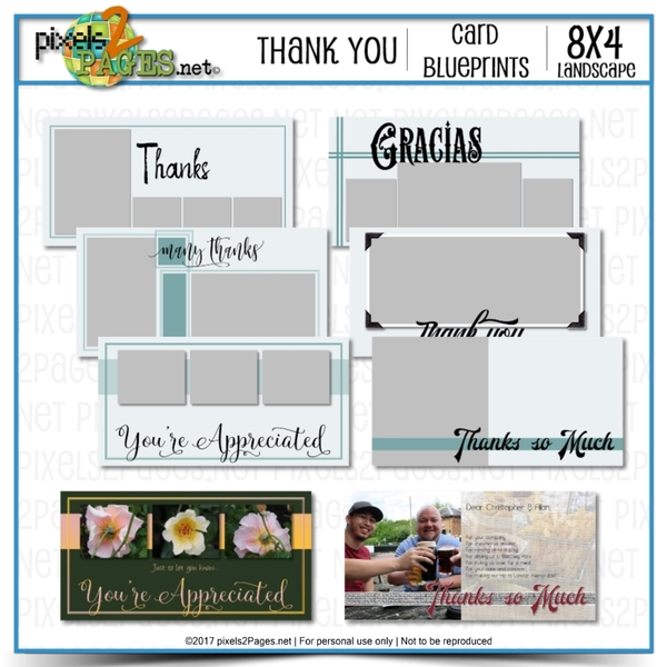 8x4 Card Blueprints - Thank You