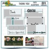 8x4 Card Blueprints - Thank You