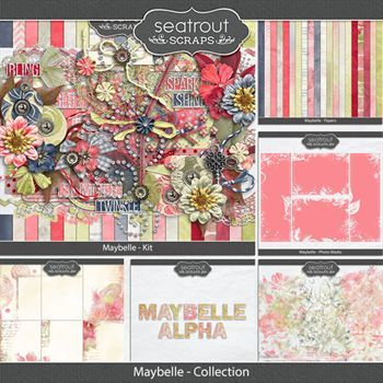 Maybelle - Discounted Bundle Digital Art - Digital Scrapbooking Kits