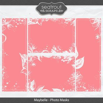 Maybelle - Photo Masks Digital Art - Digital Scrapbooking Kits