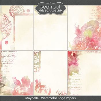 Maybelle - Watercolor Edge Papers