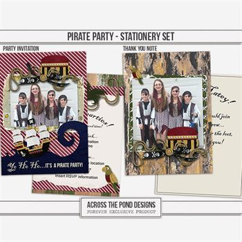 Pirate Party - Stationery Set