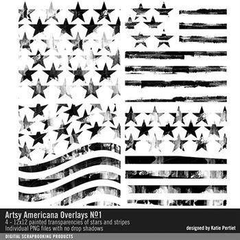 Artsy Americana Overlays No. 01