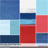 Blue Skies Solids Paper Pack
