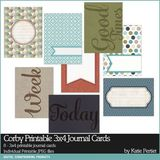 Corby Printable 3x4 Journal Cards