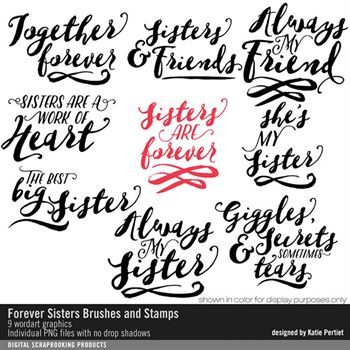 Forever Sisters Brushes And Stamps