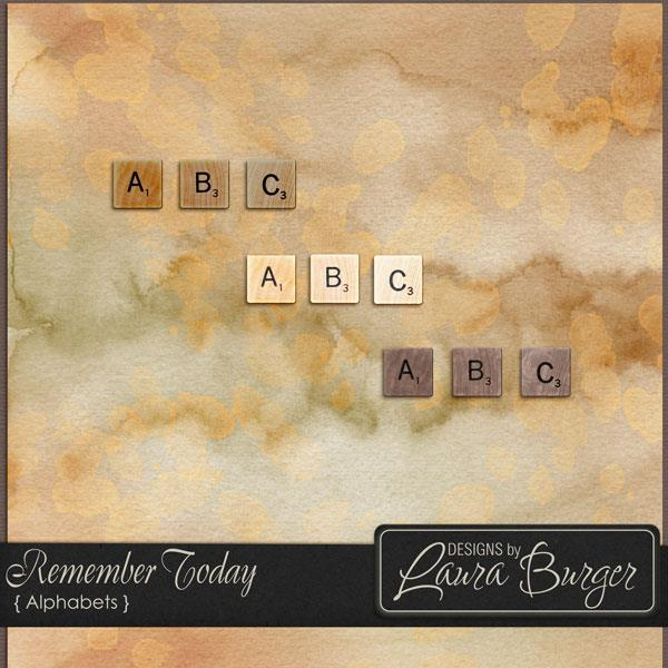 Remember Today Alphabets