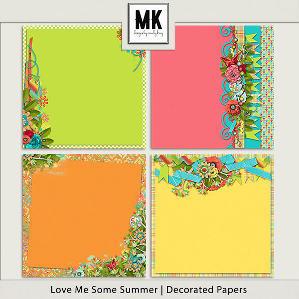 Love Me Some Summer - Decorated Papers