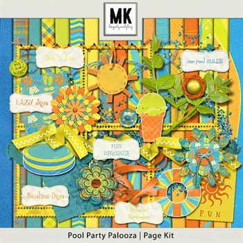 Pool Party Palooza - Page Kit