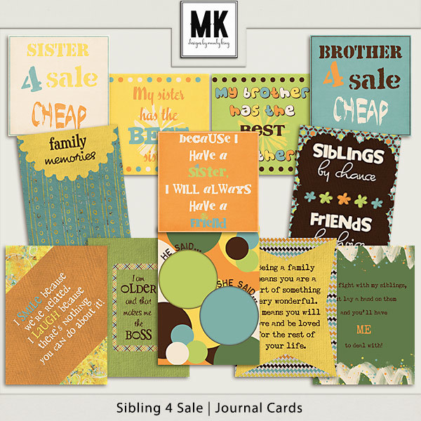 Sibling 4 Sale - Journal Cards