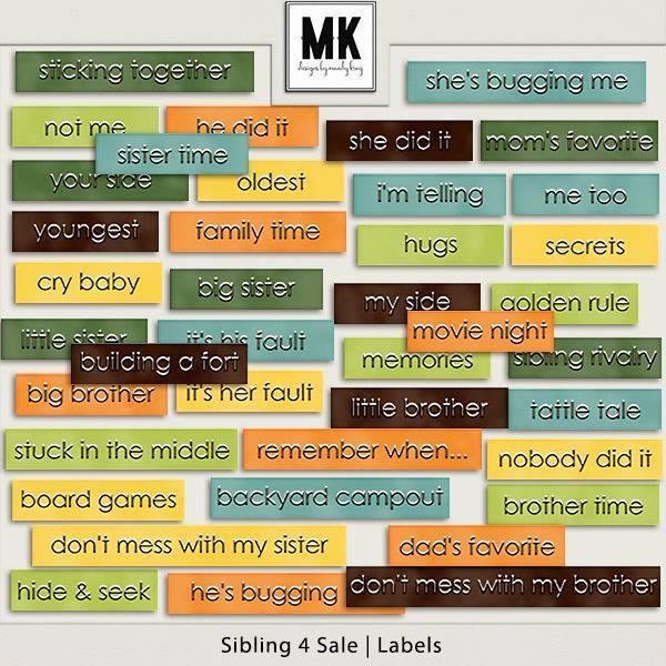 Sibling 4 Sale - Labels