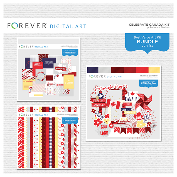 Celebrate Canada Bundle Digital Art - Digital Scrapbooking Kits