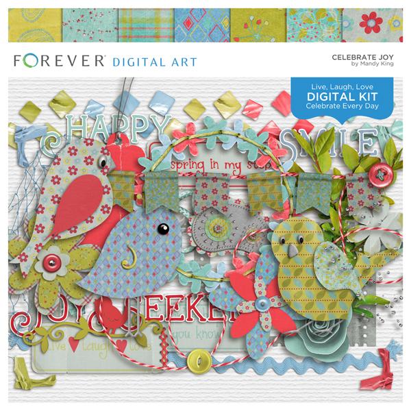 Celebrate Joy Kit Digital Art - Digital Scrapbooking Kits