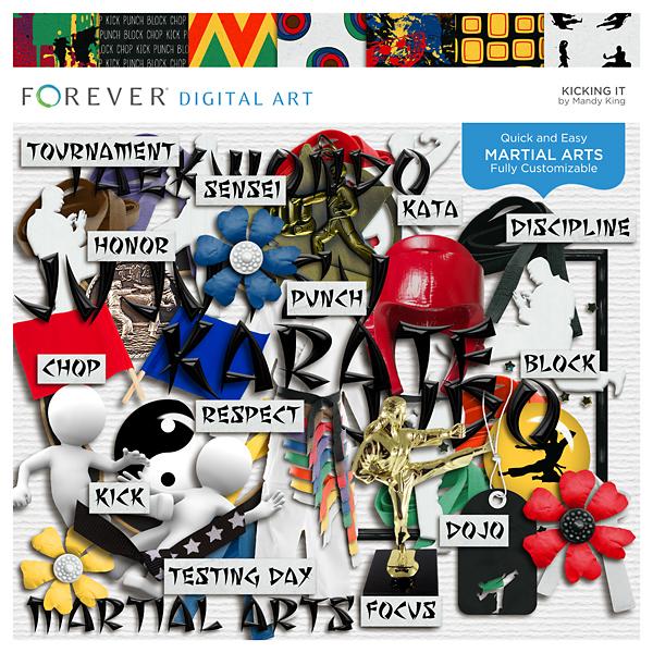 Kicking It Digital Art - Digital Scrapbooking Kits