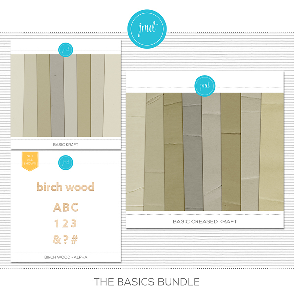 The Basics Bundle Digital Art - Digital Scrapbooking Kits