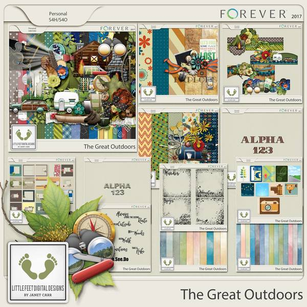 The Great Outdoors Mega Bundle Digital Art - Digital Scrapbooking Kits