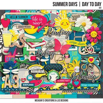 Summer Days - Day To Day Kit Digital Art - Digital Scrapbooking Kits