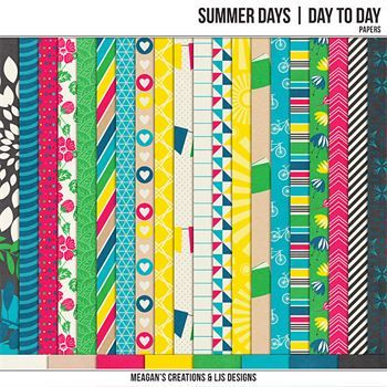 Summer Days - Day To Day Papers Digital Art - Digital Scrapbooking Kits