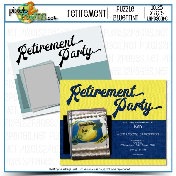 Retirement Party Puzzle Blueprint