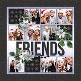 Christmas Friends Predesigned & Editable Square Canvas