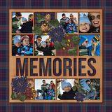 Christmas Memories Predesigned & Editable Square Canvas