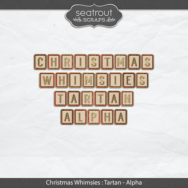 Christmas Whimsies - Tartan Alpha